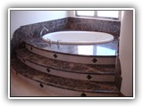 Marble Bathtub surround and steps