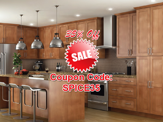 Kitchen Cabinets in Shaker Spice