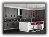 Kitchen Cabinets in Shaker Gray